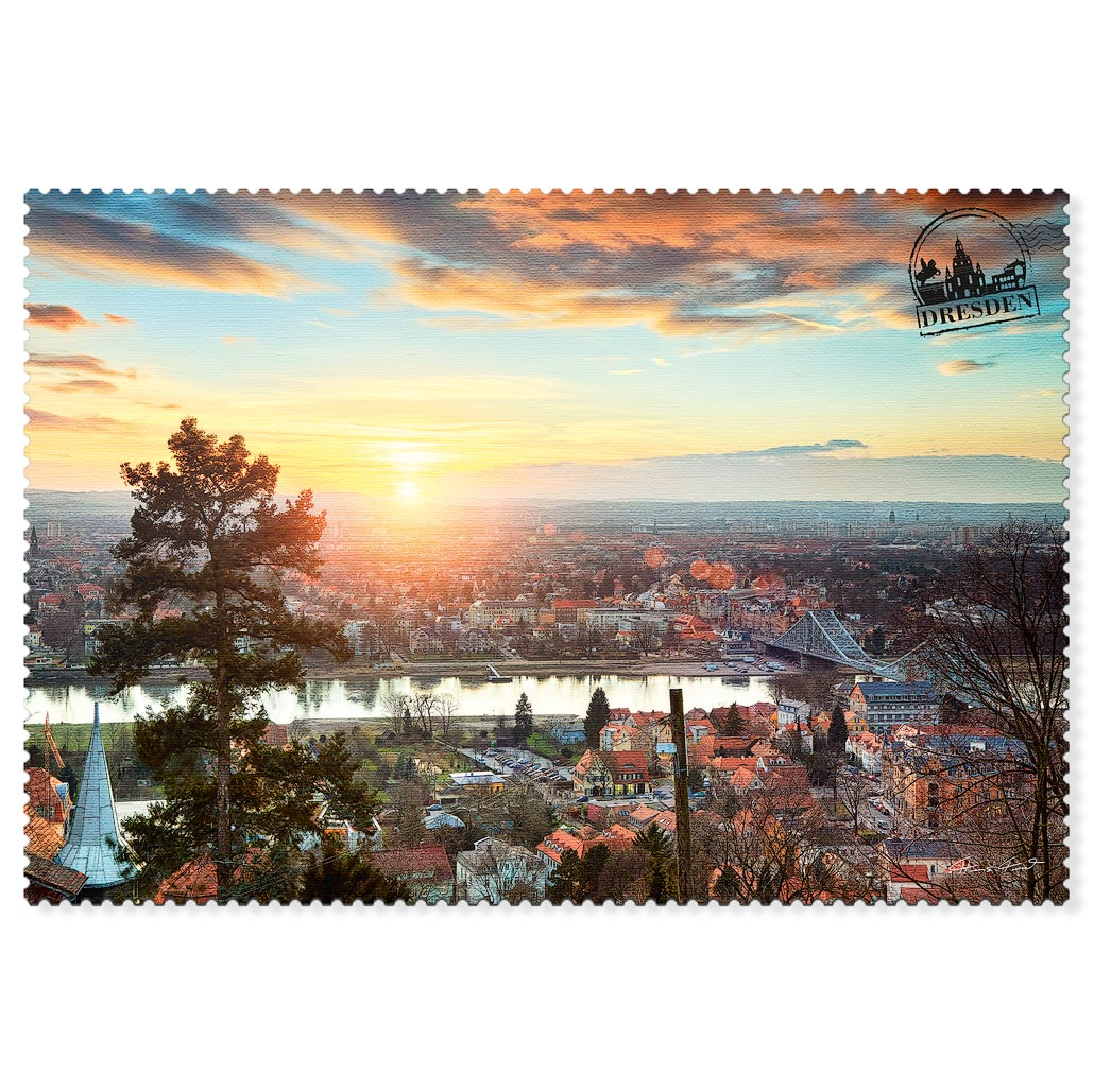 Dresden Postkarte hpd022 Hans Fineart