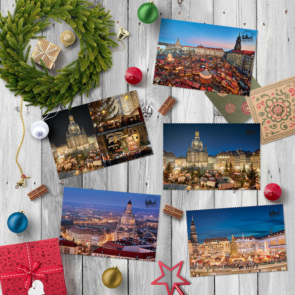 Dresden Postkarte Weihnachts Edition Hans Fineart
