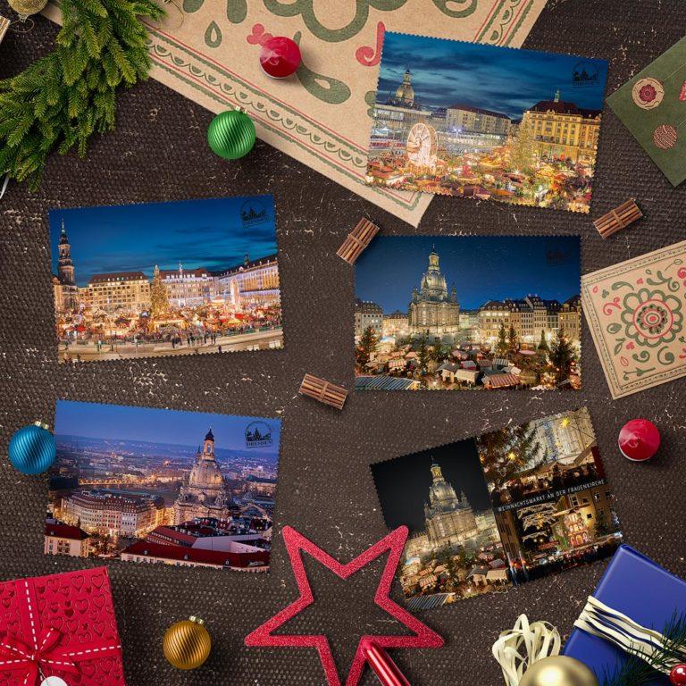 Dresdner Weihnachtspostkarten von Hans Fineart