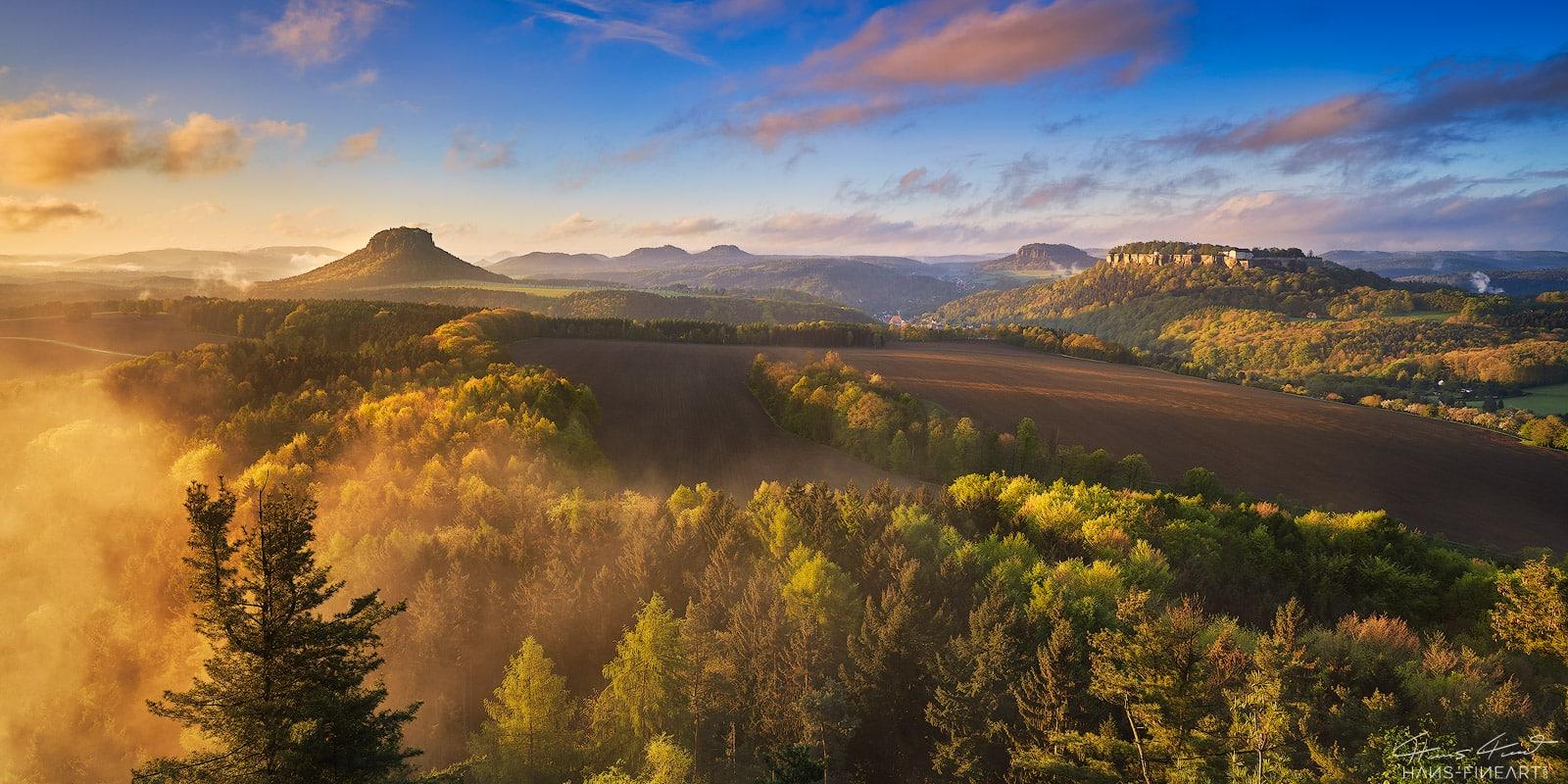 Sächsische Schweiz Elbsandsteingebirge Hans Fineart Lilienstein Königstein