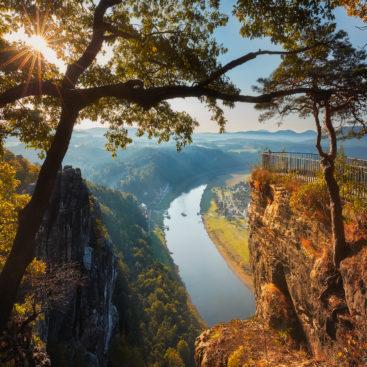 Sächsische Schweiz Elbsandsteingebirge Hans Fineart Bastei Rathen
