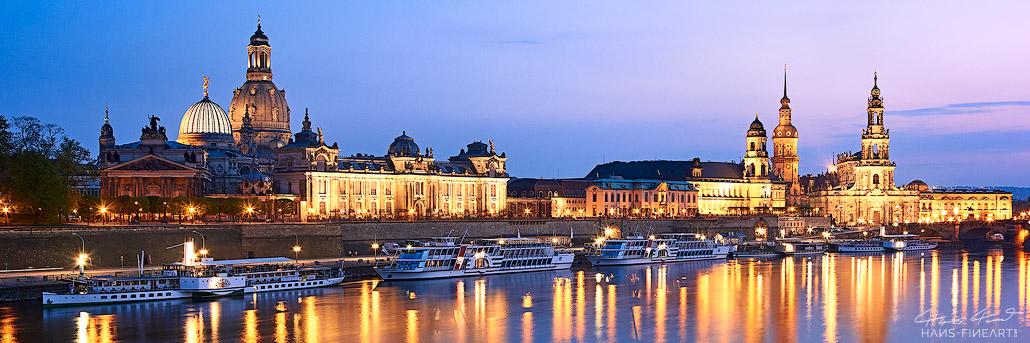 Dresdner Skyline Hans Fineart Sachsen Galeriebilder Dresden