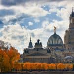 Frauenkirche Herbst Hans Fineart Sachsen Galeriebilder Herbstlich Dresden