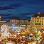 Striezelmarkt Hans Fineart Sachsen Galeriebilder Dresden Weihnachtsabend