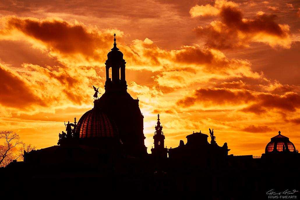 Frauenkirche Hans Fineart Sachsen Galeriebilder Dresden Abendlicht
