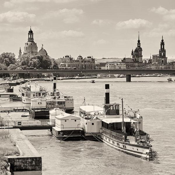 Hans Fineart Sachsen Galeriebilder Dresden Weisse Flotte