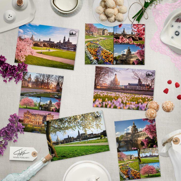 Dresdner Frühlings Postkarten von Hans Fineart