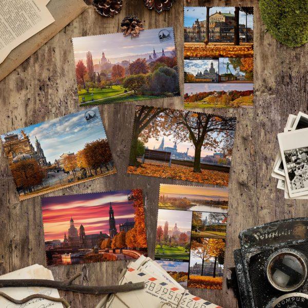 Dresdner Herbst Postkarten von Hans Fineart