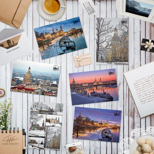 Dresdner Winter Postkarten von Hans Fineart