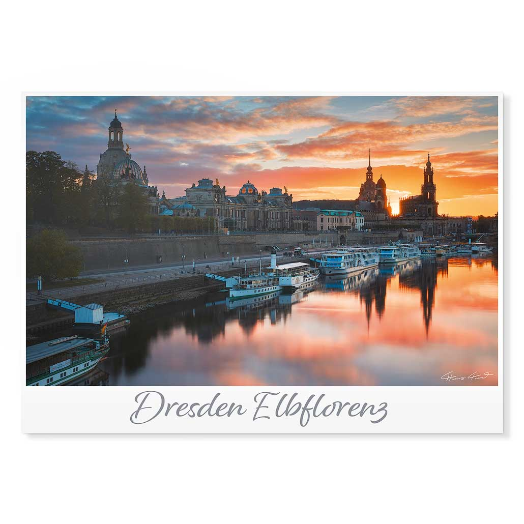 Dresden Postkarte lui008 Hans Fineart