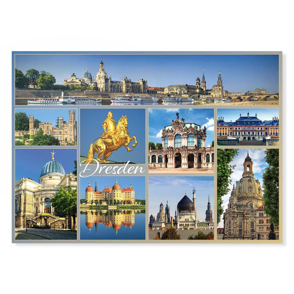Dresden Postkarte lui016 Hans Fineart