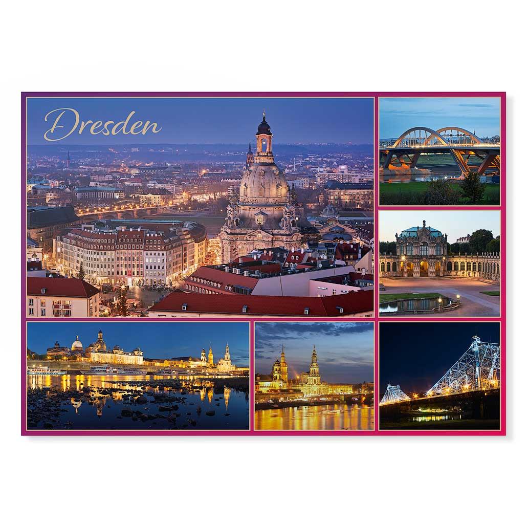 Dresden Postkarte lui020 Hans Fineart
