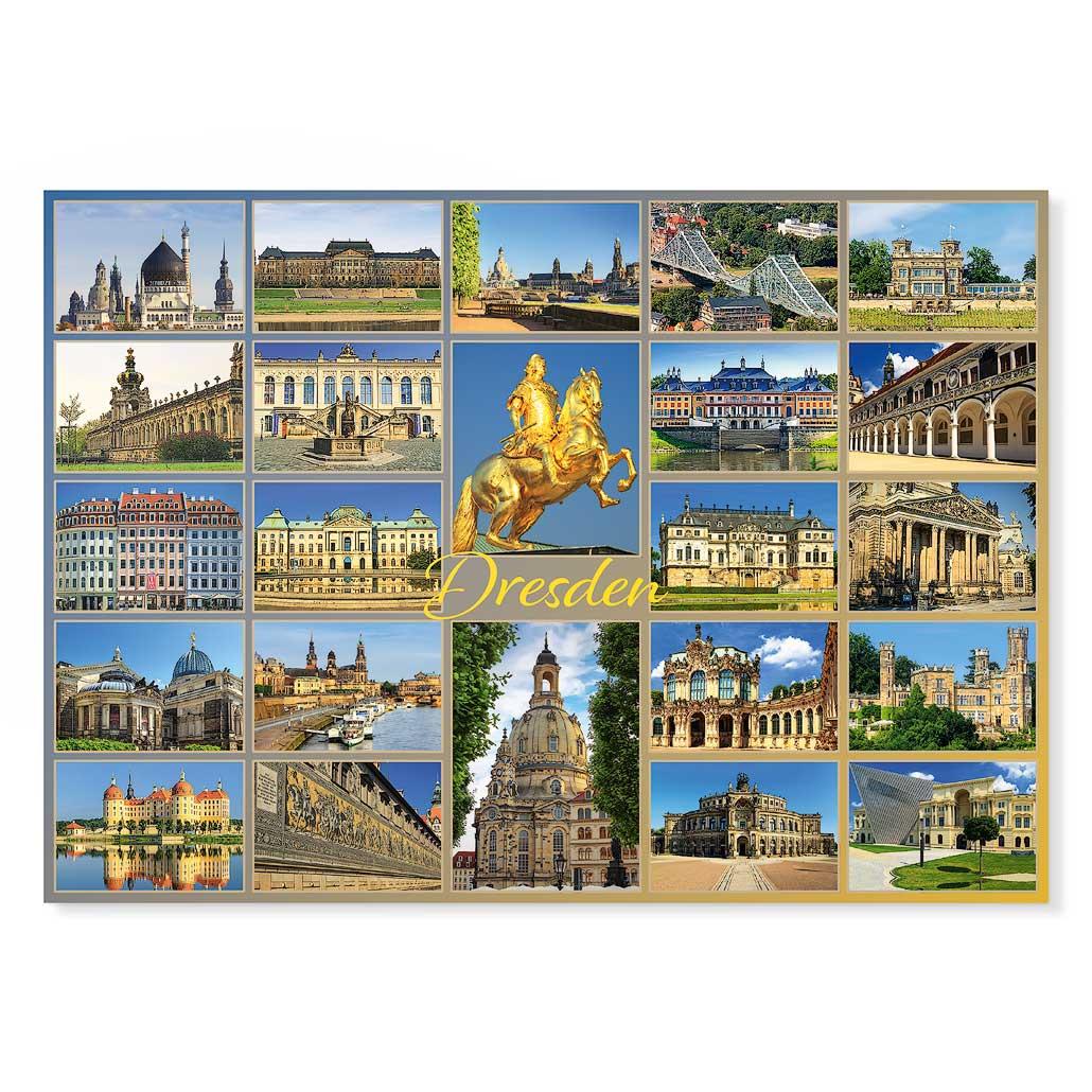 Dresden Postkarte lui027 Hans Fineart
