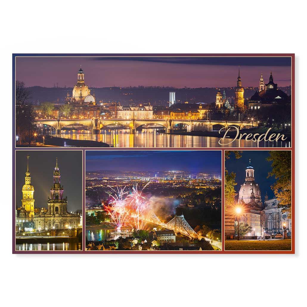 Dresden Postkarte lui037 Hans Fineart