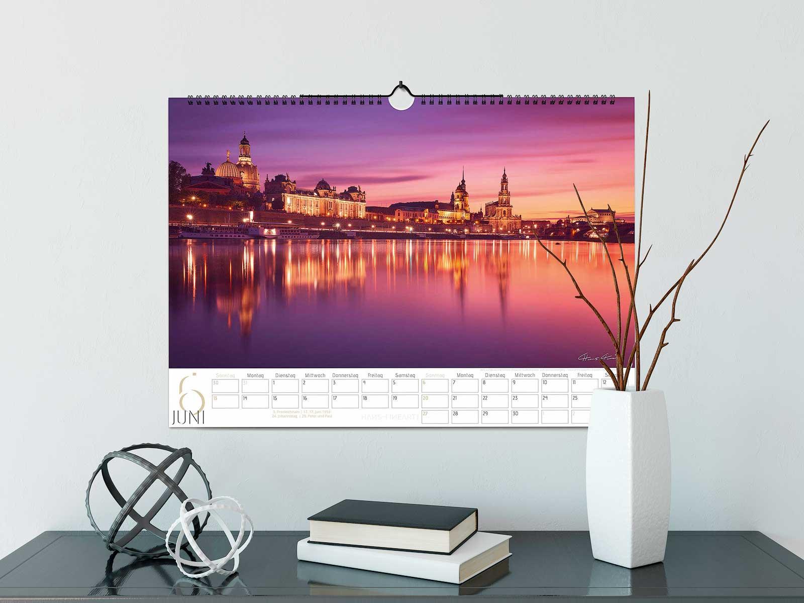 Dresden Kalender 2021 Hans Fineart