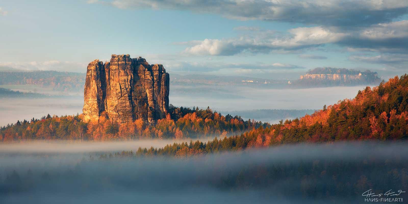 Falkenstein Festung KönigsteinSächsische Schweiz Elbsandsteingebirge Hans Fineart