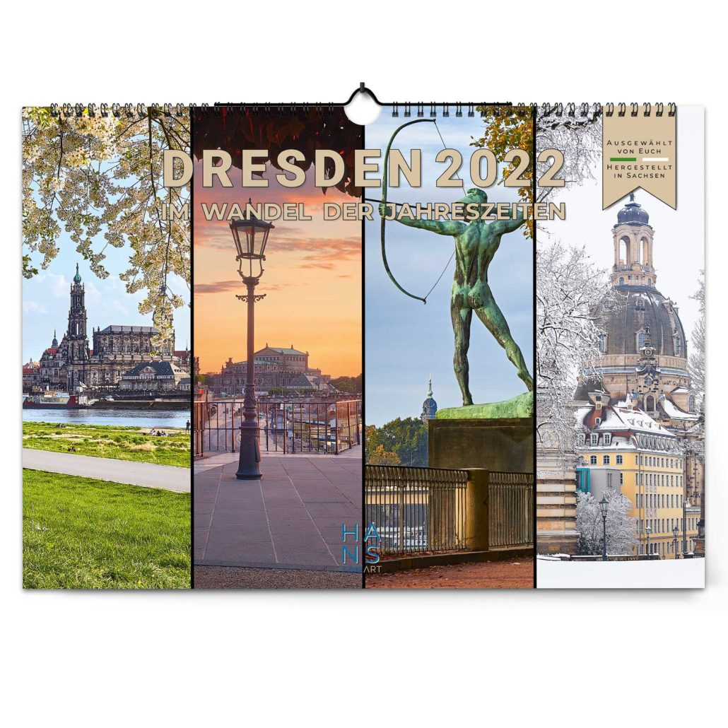 Dresden Kalender 2022 von Hans Fineart
