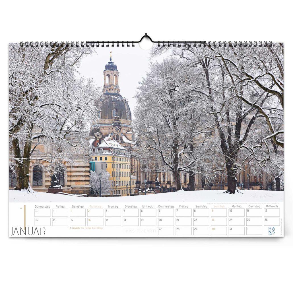 Kalender Dresden 2022 von Hans Fineart