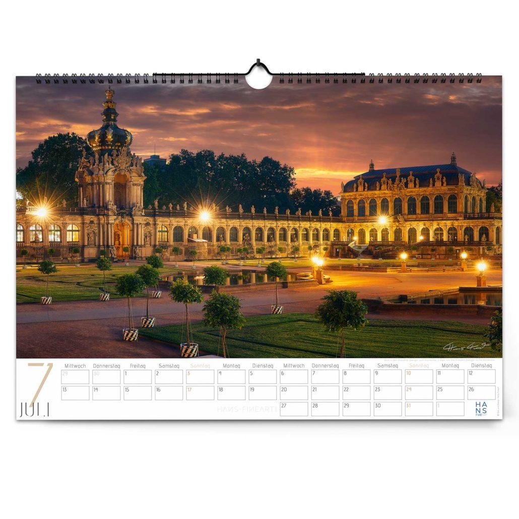 Wandkalender Dresden 2022 von Hans Fineart