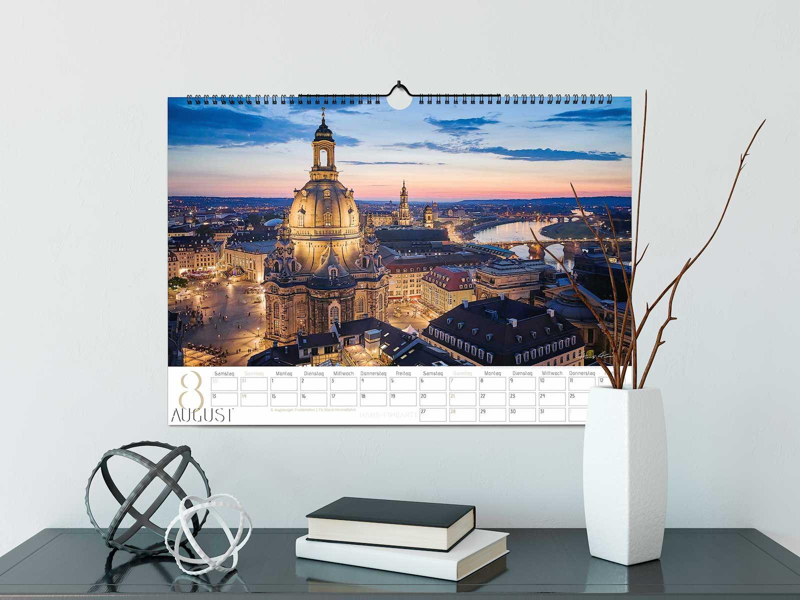Dresden Kalender 2022 Hans Fineart