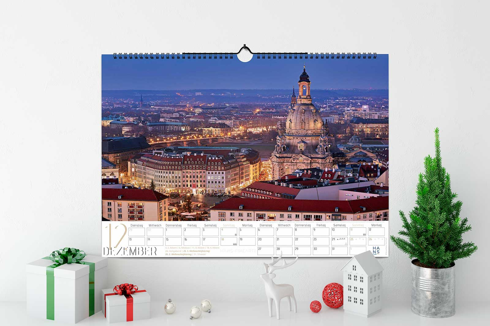Wandkalender 2022 Hans Fineart