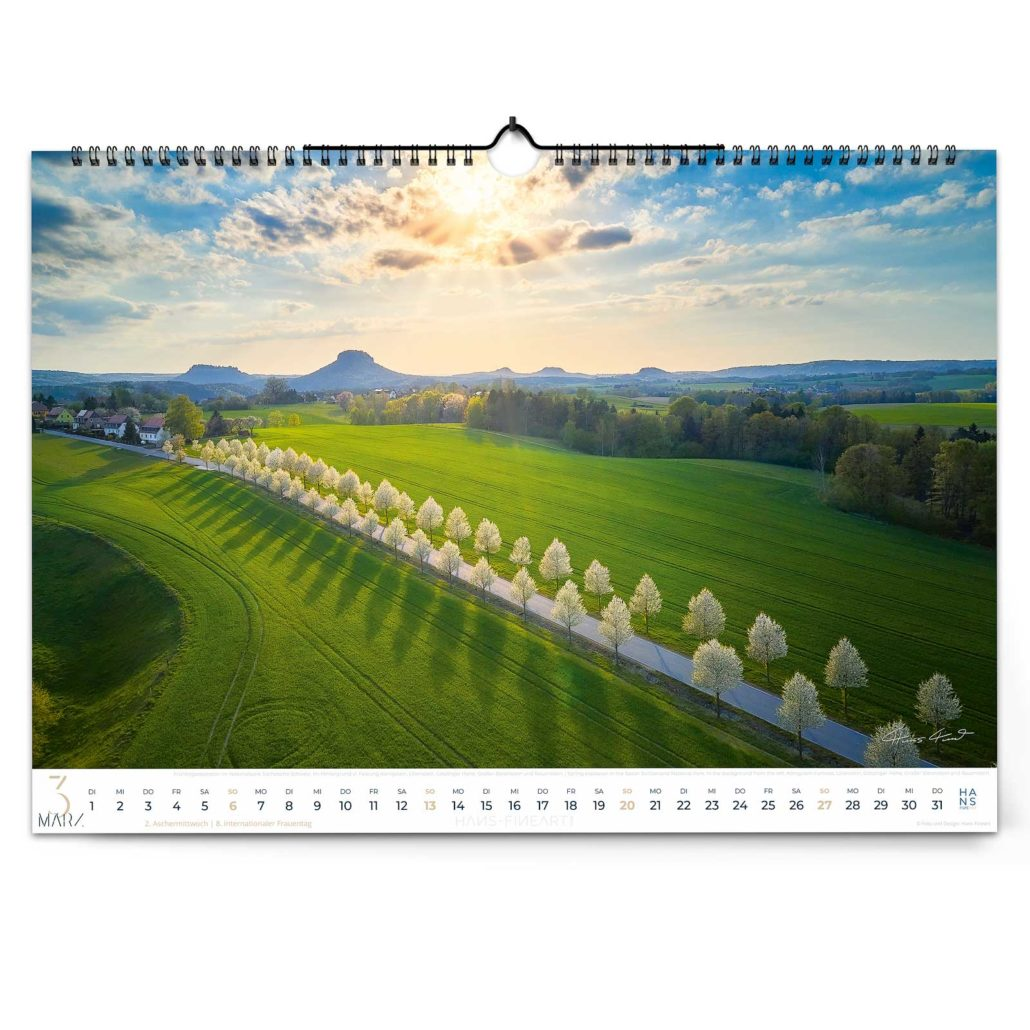 Sächsische Schweiz Kalender 2022 von Hans Fineart
