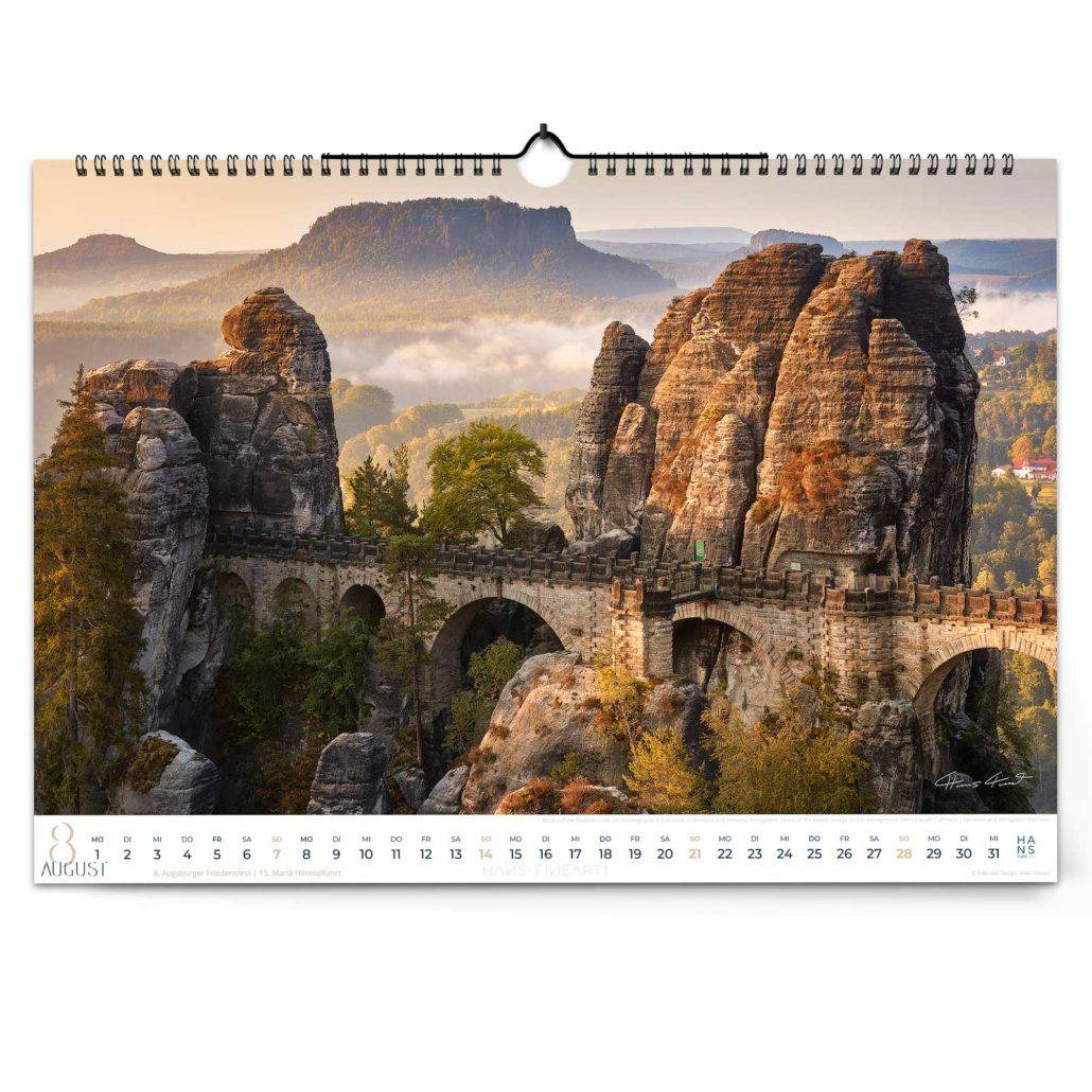 Landschaftskalender 2022 von Hans Fineart